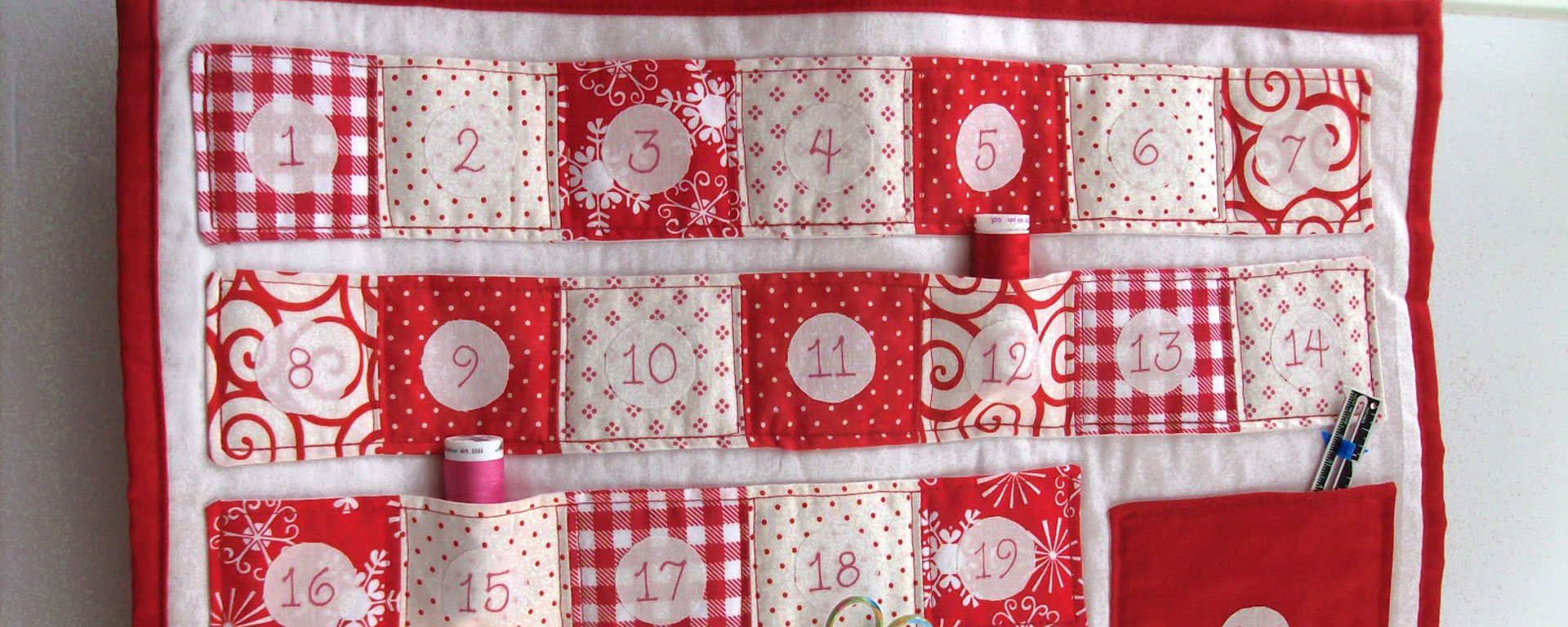 Sewn Advent Calendar Ideas : Quilted advent calendar tutorial fanny lu designs