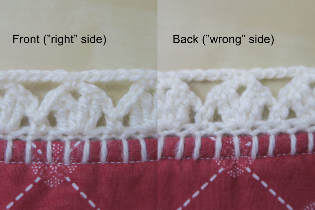 right-wrong sides of crochet